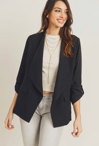 Waterfall Blazer-Black