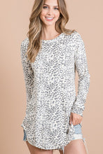 Load image into Gallery viewer, Call Me Back Leopard Top- Dark Grey