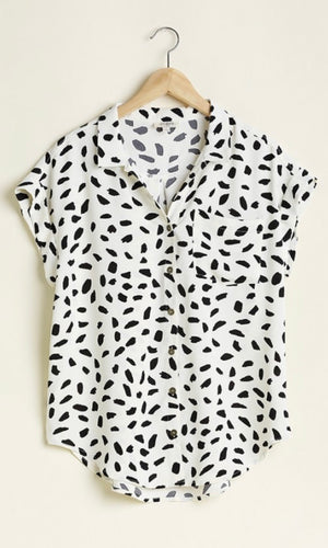 Kourtney Dalmatian Blouse