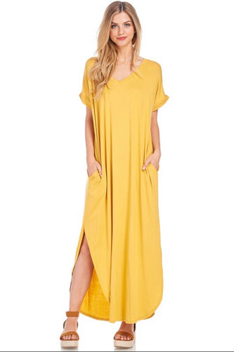 Stella Dress-Yellow