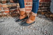 Load image into Gallery viewer, Cognac Duck Boots