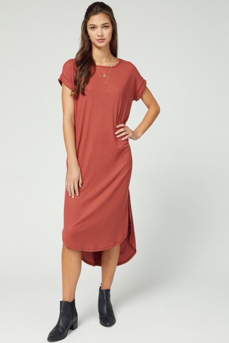 Cameron Dress- Terra Cotta