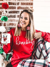 Load image into Gallery viewer, Homebody Sweatshirt- Red