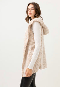 Simply Put Sherpa Vest-Tan