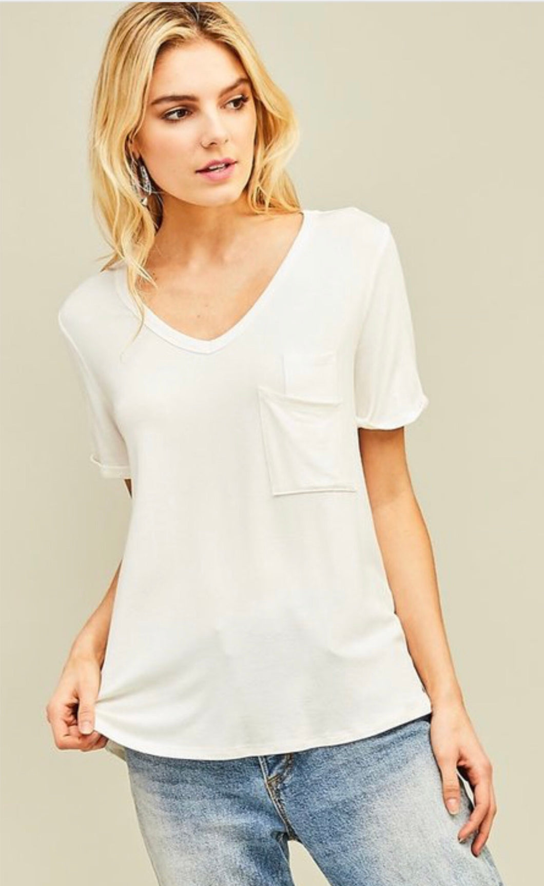 Livi Pocket Tee (White)