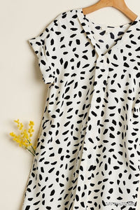 Khloe Dalmatian Dress-Off White