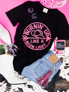 Burning Up Like A Neon Night Graphic Tee