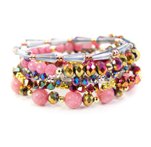 Load image into Gallery viewer, Pink Spritzer Bracelet Stack