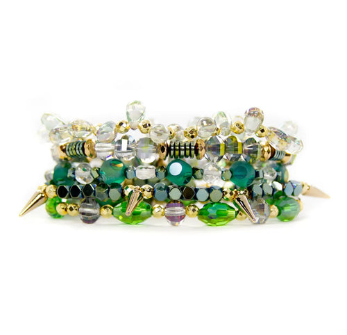 Holly Green Bracelet Stack