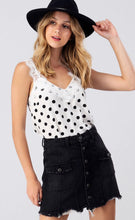 Load image into Gallery viewer, Polka dot Cami w/lace