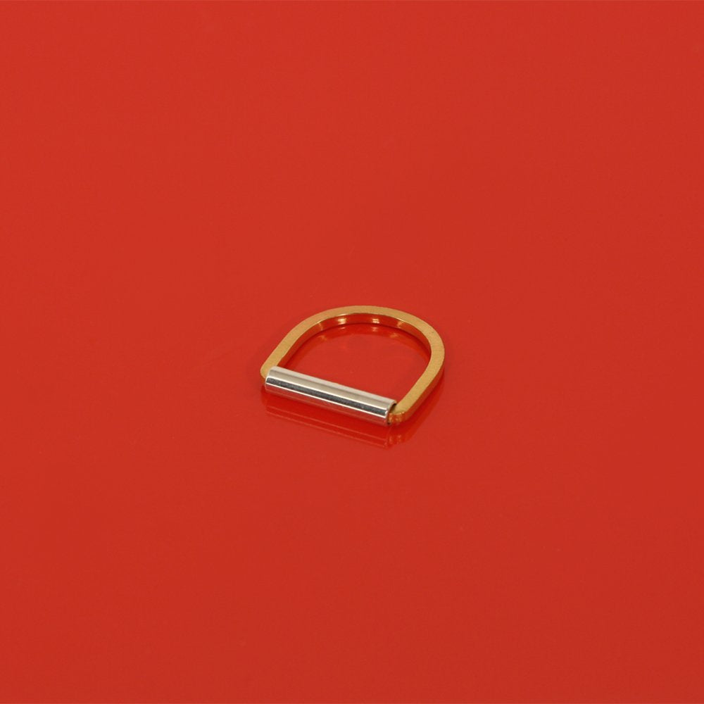 Rim ring - goldplated silver
