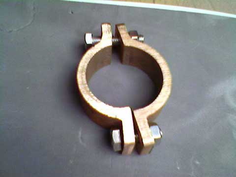 BRONZE Davit - Clamp   (SPLIT) 1-1/4in