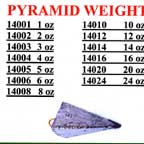 Lead Pyramid Weights