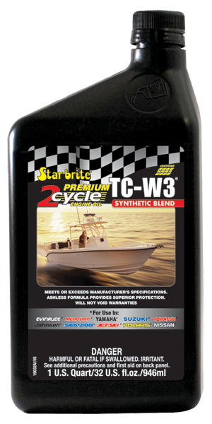 STARBRITE Premium 2-Cycle Engine Oil TC-W3 Synthetic Blend 1qt