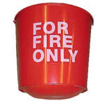 FIRE BUCKET ROUND BOTTOM  10-1/2 QT
