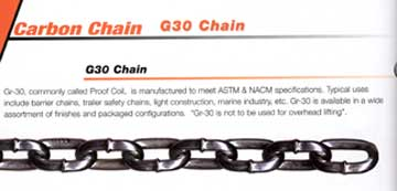 Proof Coil Chain - Hot Dipped Galvanized
