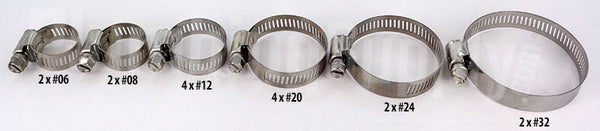 "Stainless Steel Hose Clamps (from 7/32"" - 3/4"")"
