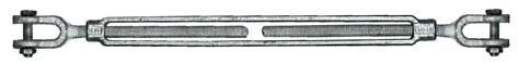 TURNBUCKLE, GALV: JAW & JAW 1/2 X  6""