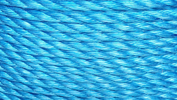 Blue 3 Strand Danpoly Polypropylene Rope (by the foot)