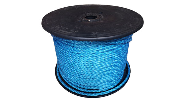 Blue 3 Strand Danpoly Co-Polymer Rope