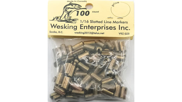WESKING BRASS BEAD SLOTTED FOR 1/16in  WIRE