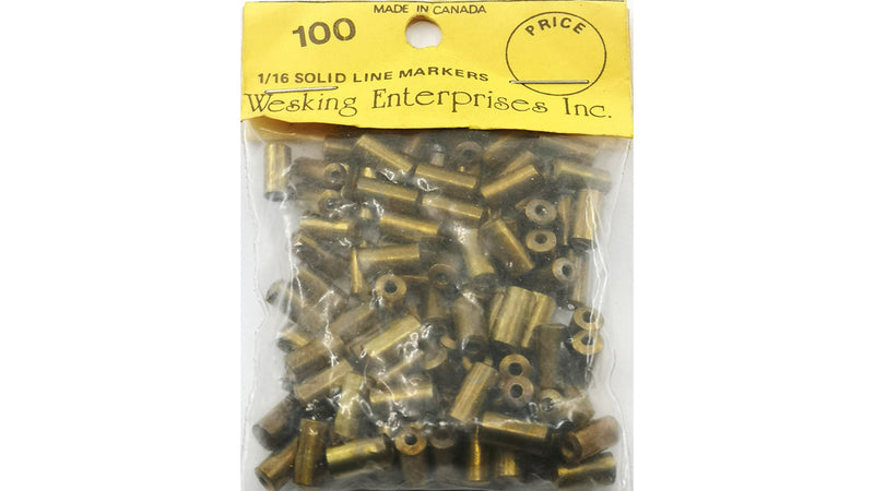 WESKING BRASS BEAD SOLID FOR 1/16in  WIRE