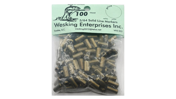 "WESKING BRASS BEAD SOLID FOR 5/64""  WIRE"