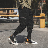 black techwear casual joggers