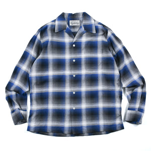 Load image into Gallery viewer, California Check Open Collar Shirt ( Type-3 )