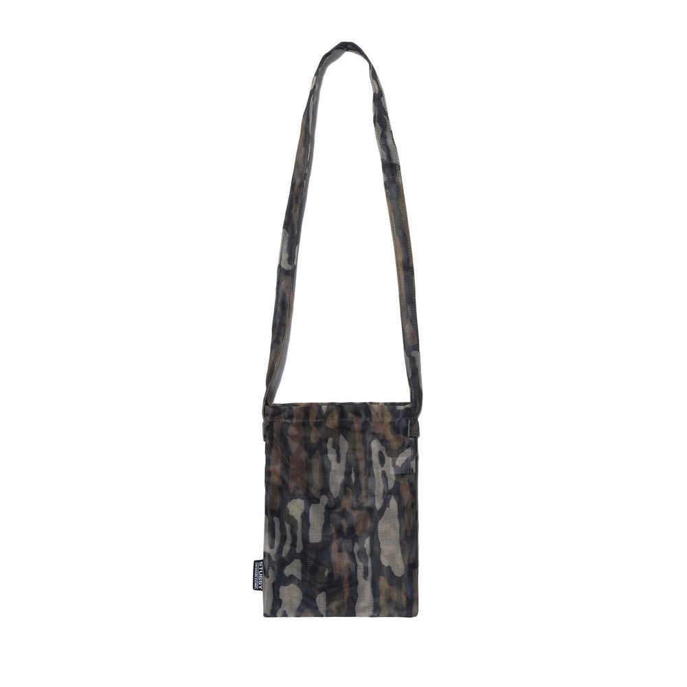 Tree Bark Mesh Pouch Bag