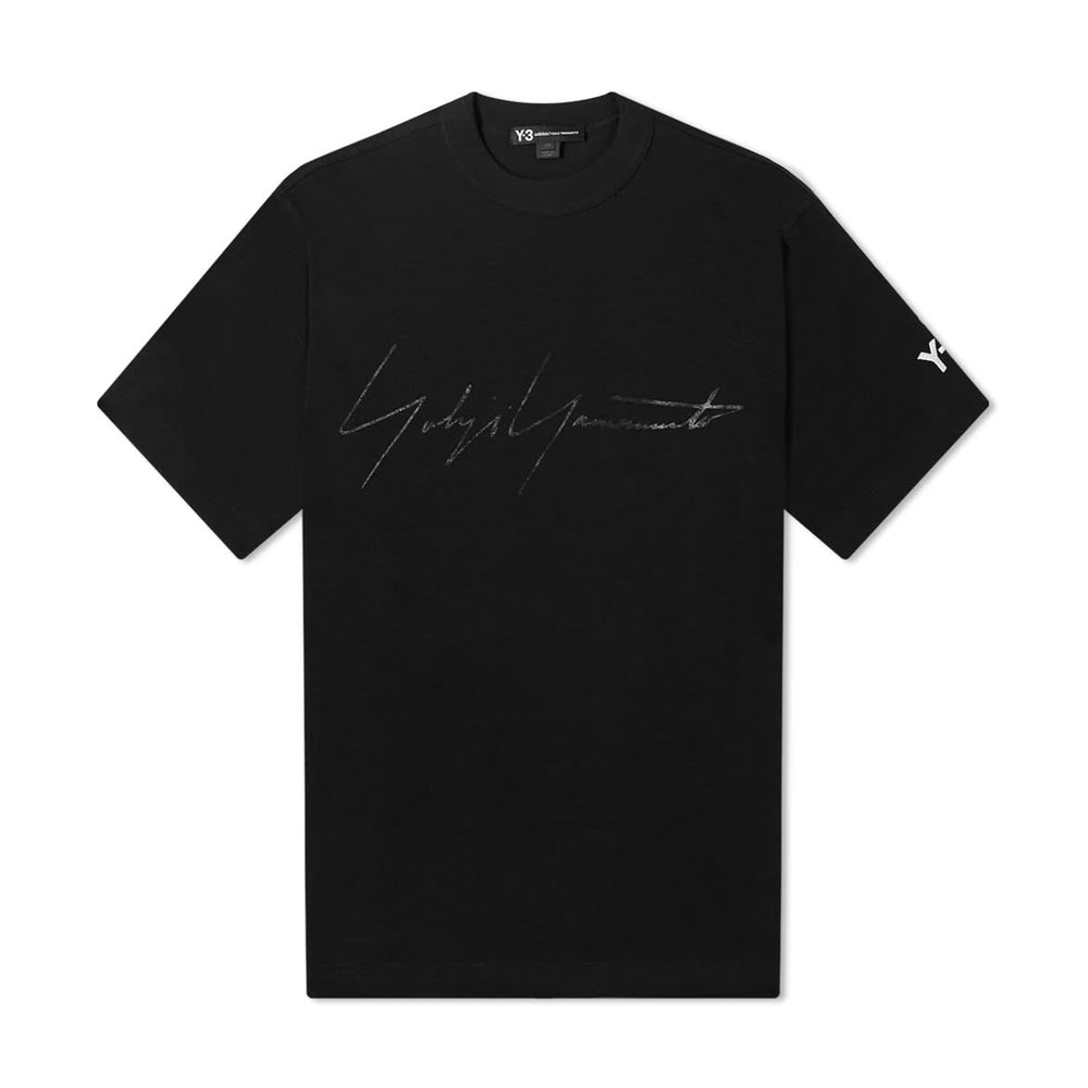 M Distressed Signature Tee