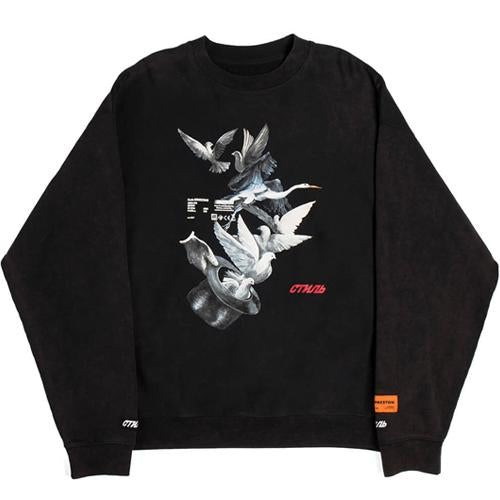 Crewneck LS Herons Doves - INVINCIBLE