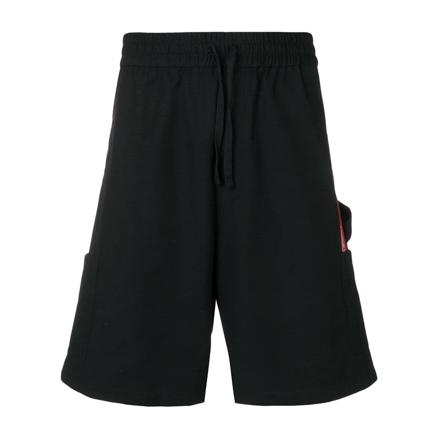 Elastic Cargo Shorts Red Tape