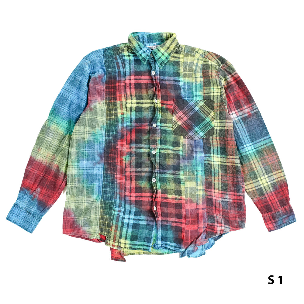 Flannel Shirt -> 7 Cuts Shirt / Tie Dye