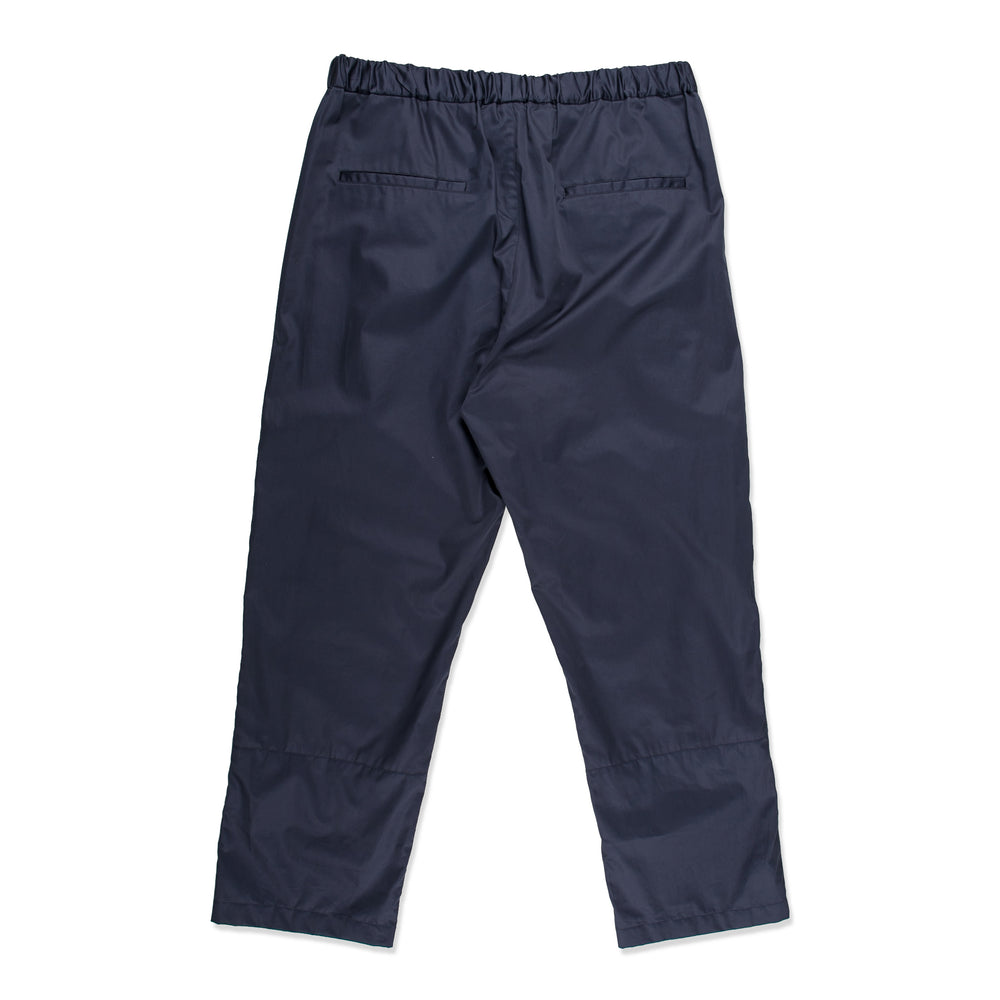 Cropped Drawcord Pant, Coated Woven