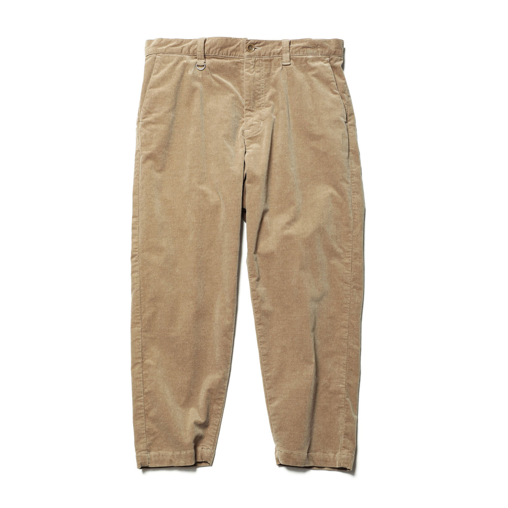 Wide Cropped Corduroy Pants - INVINCIBLE