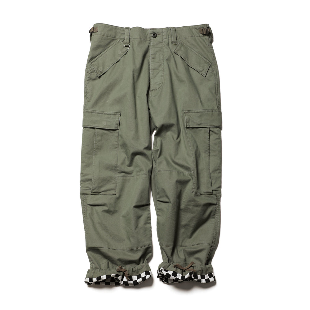 Cropped Wide Cargo Pants - INVINCIBLE