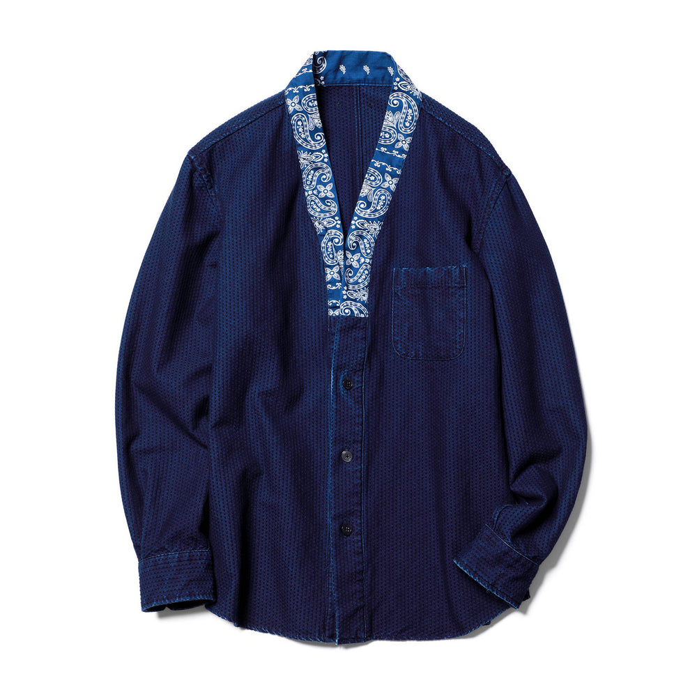 Indigo Gown Shirt