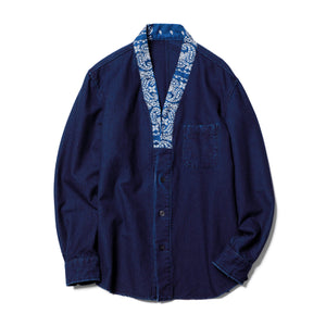 Load image into Gallery viewer, Indigo Gown Shirt