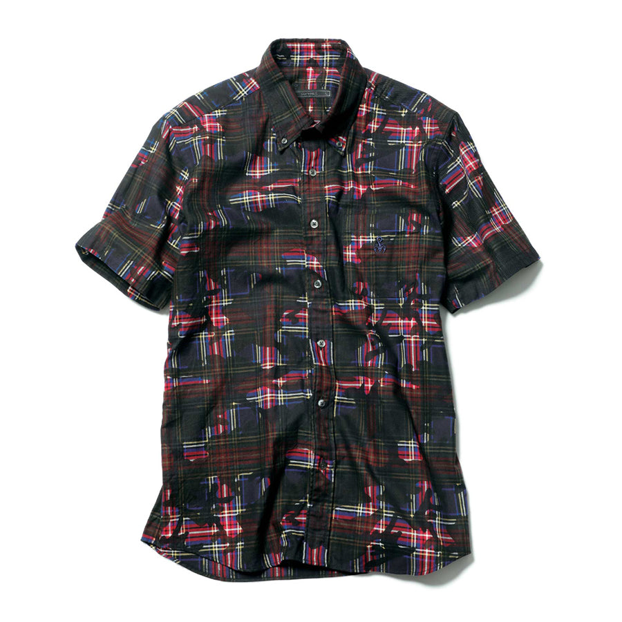 S/S Camouflage Over Print B.D Shirt