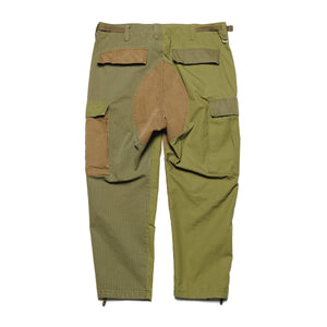 Load image into Gallery viewer, Fabric Mix Cargo Pants