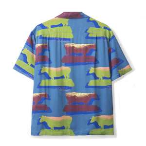 Load image into Gallery viewer, Cow Print Short Sleeve Button Down Rayon - INVINCIBLE