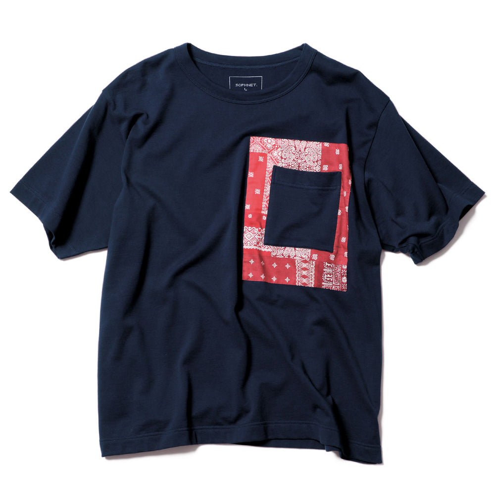 Patched Pocket Bandana Wide Tee