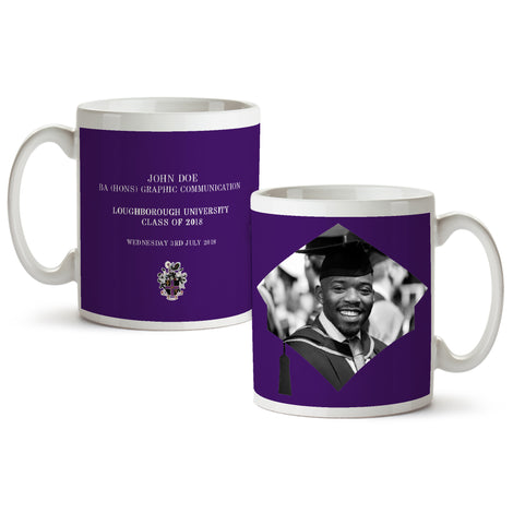 Photo Upload Mug Purple - Mono Print