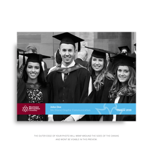 30 x 40 cm Graduation Canvas