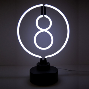 8 ball neon sculpture