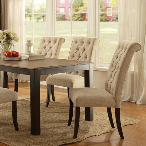Abigail Rustic Two-tone Dining Table