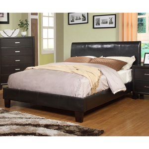 Acisco Contemporary Padded Leatherette King Platform Bed