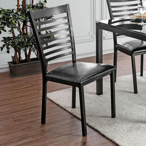 Alonso Contemporary Pub Chair (Set of 2) in Black