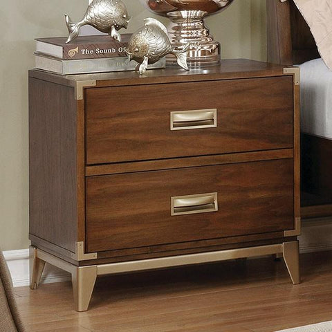 Anetta Transitional Style Dark Oak, 2-Drawer Nightstand